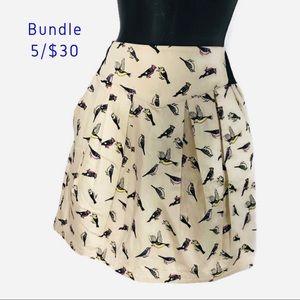 NWT Novelty Bird Print Mini Skirt by H&M Divided 8